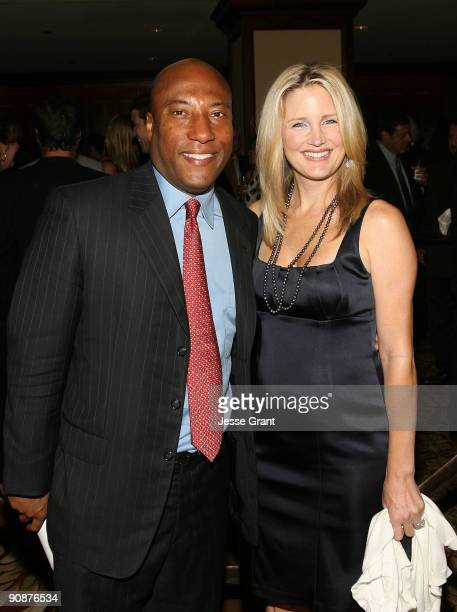 Byron Allen and Jennifer Lucas arrive at The National Mutliple Sclerosis Society's 35th Annual Dinner Of Champions at the Hyatt Regency Century Plaza...