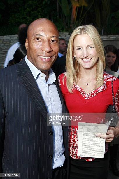 Byron Allen and Jennifer Lucas during Foundation For Ethnic Understanding Party at Private Residence in Beverly Hills CA United States