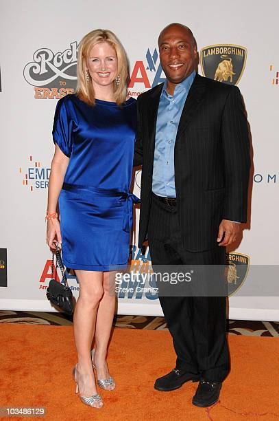 Byron Allen and wife Jennifer Lucas arrive at the 16th Annual Race to Erase MS event cochaired by Nancy Davis and Tommy Hilfiger at Hyatt Regency...