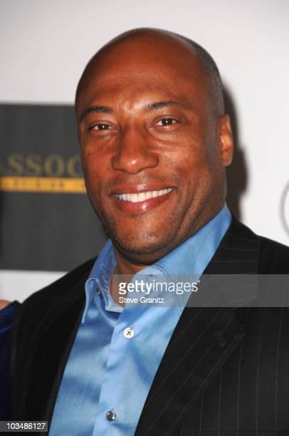 Byron Allen arrives at the 16th Annual Race to Erase MS event cochaired by Nancy Davis and Tommy Hilfiger at Hyatt Regency Century Plaza on May 8...