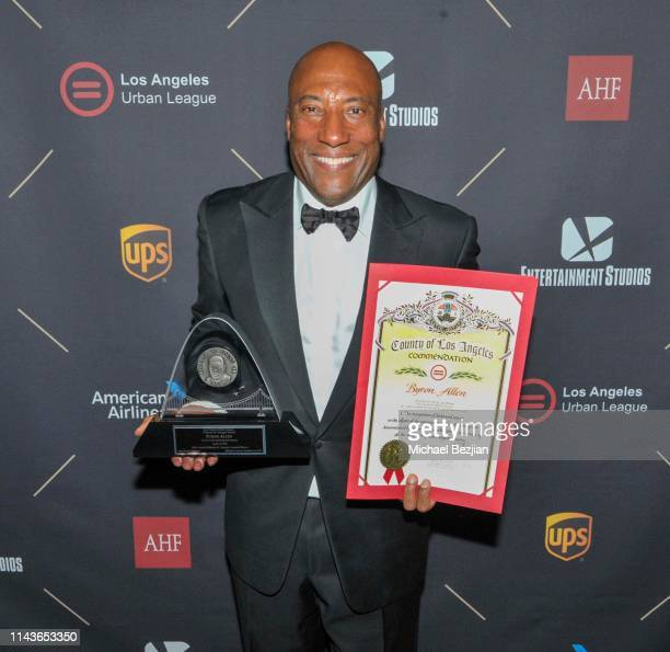 Byron Allen attends Byron Allen Honored by Los Angeles Urban League on April 18 2019 in Hollywood California