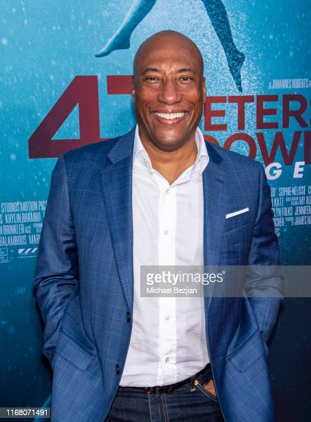 Byron Allen attends the LA Premiere of 47 Meters Down UNCAGED on August 13 2019 in Los Angeles California