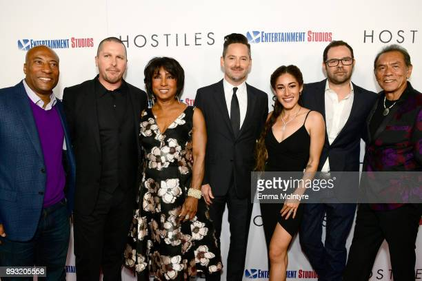 Byron Allen Christian Bale Carolyn Folks Scott Cooper Q'Orianka Kilvcher Rory Cochran and Wes Studi attends the premiere of Entertainment Studios...