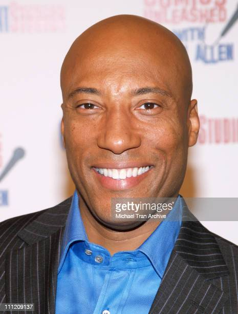 Byron Allen during Comics Unleashed Television Premiere Party at Sunset Gower Studios Stage 9 in Hollywood California United States