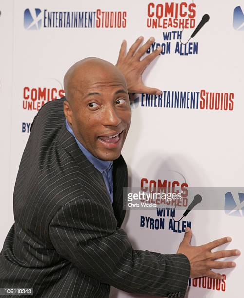 Byron Allen during Comics Unleashed with Byron Allen Launch Party Red Carpet at Sunset Gower Studios in Hollywood California United States