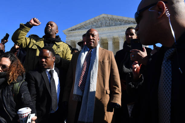 DC: Byron Allen (Founder, Chairman & CEO, Entertainment Studios) At Supreme Court Hearing In Racial Discrimination Suit Against Comcast