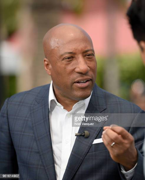 Byron Allen visits Extra at Universal Studios Hollywood on April 26 2018 in Universal City California