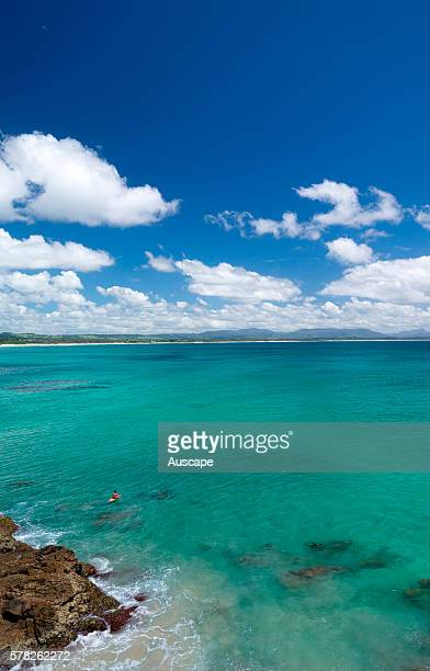 Byron Bay from above Clarks Beach New South Wales Australia