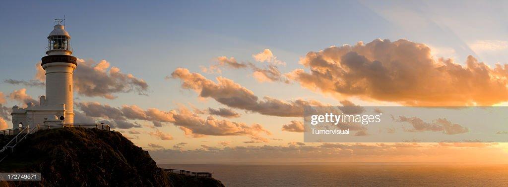 Byron Bay Lighthouse Vanilla Sunrise : Stock Photo