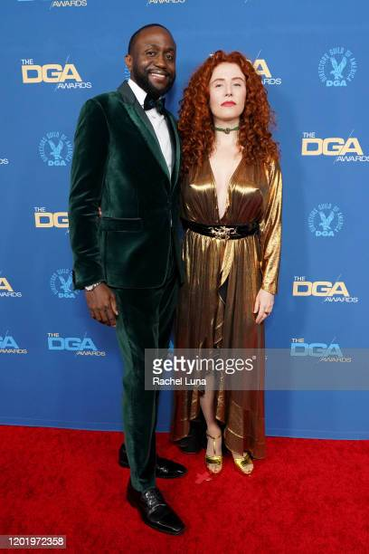 Byron Bowers and Alma Har'el arrive for the 72nd Annual Directors Guild Of America Awards at The Ritz Carlton on January 25 2020 in Los Angeles...