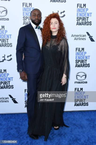 Byron Bowers and Alma Har'el attend the 2020 Film Independent Spirit Awards on February 08 2020 in Santa Monica California