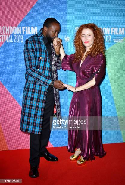 Byron Bowers and Alma Har'el attend the Honey Boy European Premiere during the 63rd BFI London Film Festival at the Vue West End on October 06 2019...
