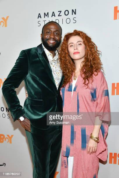 Byron Bowers and Alma Har'el attend the premiere of Amazon Studios Honey Boy at The Dome at Arclight Hollywood on November 05 2019 in Hollywood...