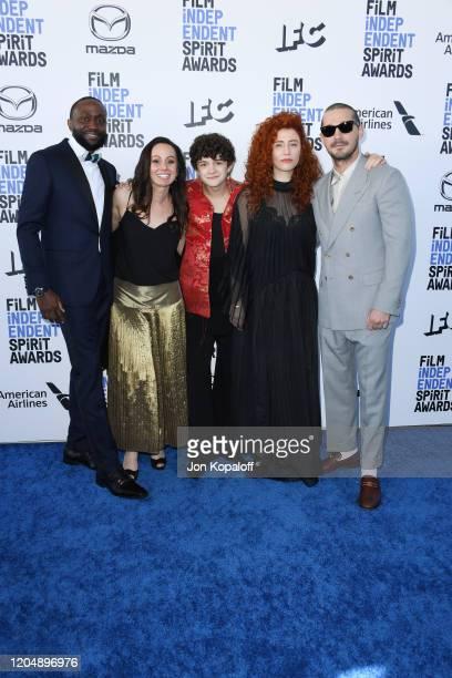 Byron Bowers Natasha Braier Noah Jupe Alma Har'el and Shia LaBeouf attend the 2020 Film Independent Spirit Awards on February 08 2020 in Santa Monica...