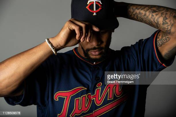 Byron Buxton of the Minnesota Twins poses for a photo on January 26, 2019 at Target Field in Minneapolis, Minnesota.