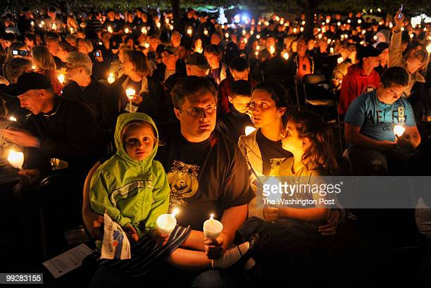 Byron Gurnee foreground center with his family from left daughter Alyssa wife Julia and daughter Kendra has come from Pennsylvania to honor the three...