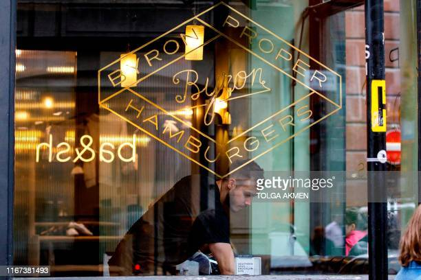A Byron hamburgers restaurant is pictured in central London on September 11 2019