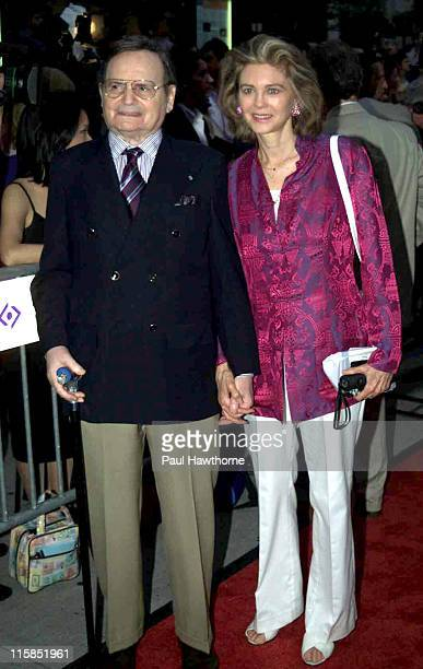 Byron Janis and wife Maria Cooper Janis during Casablanca 60th Anniversary Event Red Carpet at Alice Tully Hall Lincoln Center in New York City New...