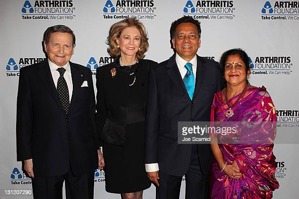 Byron Janis Maria Cooper Janis Dr Jeereddi Prasad MD and Dr Sudathi Jeereddi arrive at the Arthritis Foundation's Commitment To A Cure Awards Gala at...