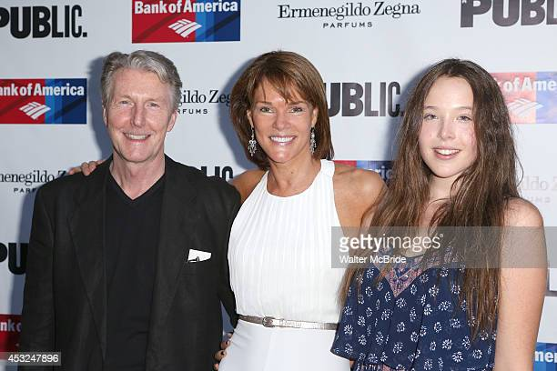 Byron Jennings Carolyn McCormick Ella Beatty attend the The Public Theatre's Opening Night Performance of 'King Lear' at the Delacorte Theatre on...