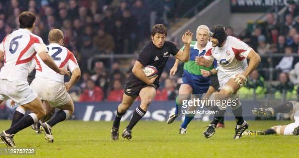 Byron Kelleher England v New Zealand Rugby Union international at Twickenham Stadium 18th November 2005.