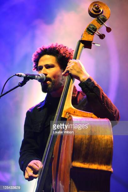 Byron Luiters of John Butler Trio performs on stage during the Coaster 2011 on September 17, 2011 in Gosford, Australia.