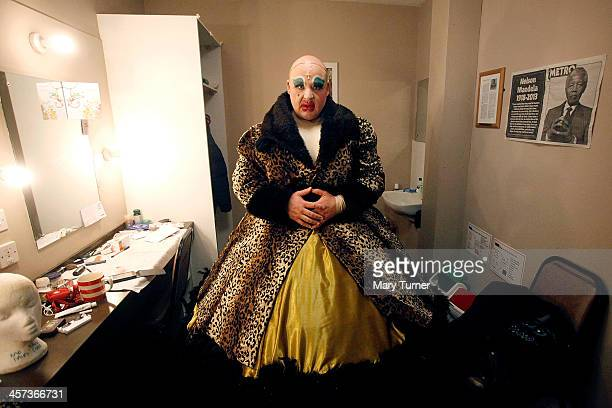 Byron Mondahl stands in the costume of Daisy one of Cinderella's Ugly Sisters at the Churchill Theatre on December 12 2013 in Bromley England Byron...