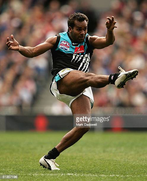 Byron Pickett of the Power in action during the AFL Grand Final between the Port Adelaide Power and Brisbane lions at the Melbourne Cricket Ground...