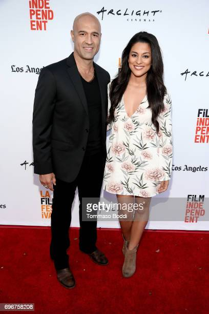 Byron Quiros and Carmela Zumbado attend the Shorts Program 4 during 2017 Los Angeles Film Festival at ArcLight Cinemas on June 16 2017 in Culver City...