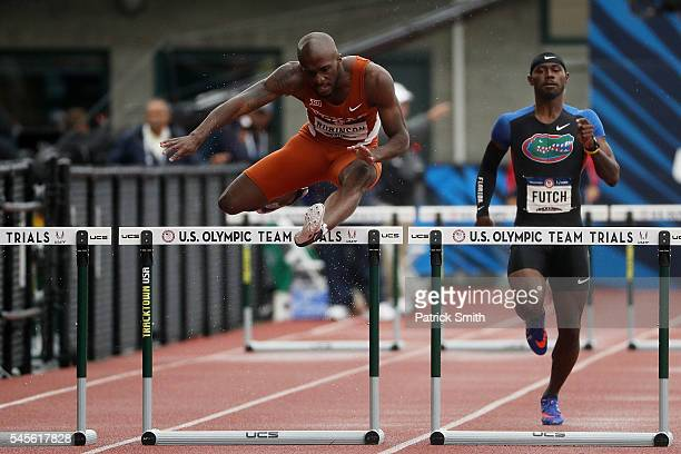 Byron Robinson competes in the Men's 400 Meter Hurdles SemiFinal during the 2016 US Olympic Track Field Team Trials at Hayward Field on July 8 2016...