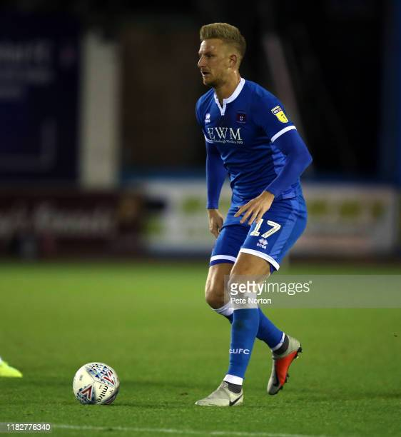 Byron Webster of Carlisle United in action during the Sky Bet League Two match between Carlisle United and Northampton Town at Brunton Park on...