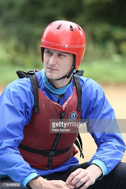Byron Webster of Northampton Town looks on during a training session at Nene Whitewater Centre on July 7, 2011 in Northampton, England.