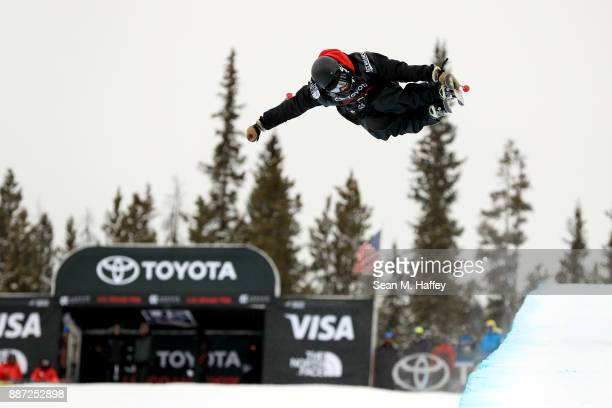 Byron Wells of New Zealand competes in a qualifying round of the FIS Freeski World Cup 2018 Men's Ski Halfpipe during the Toyota US Grand Prix on...
