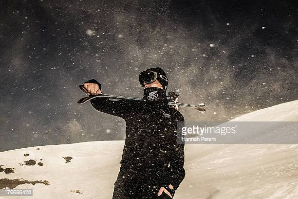 Byron Wells of New Zealand poses during a New Zealand Winter Olympic team portrait session on July 25 2013 in Wanaka New Zealand