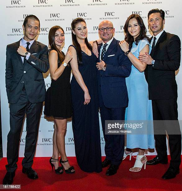 Byron Wong Ase Wang Bernice Liu IWC CEO Georges Kern Janet Ma and Michael Wong attended the exclusive WATCHES WONDERS pasta party hosted by Swiss...