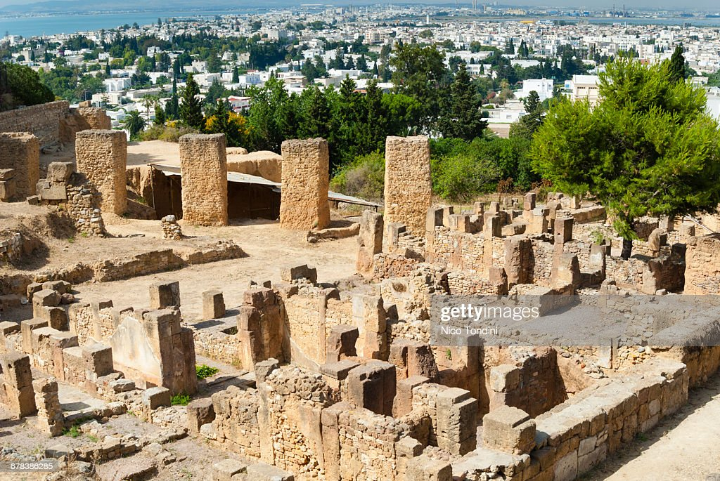 Byrsa Hill, Punic site at Carthage, UNESCO World Heritage Site, Tunis, Tunisia, North Africa, Africa : Stock Photo