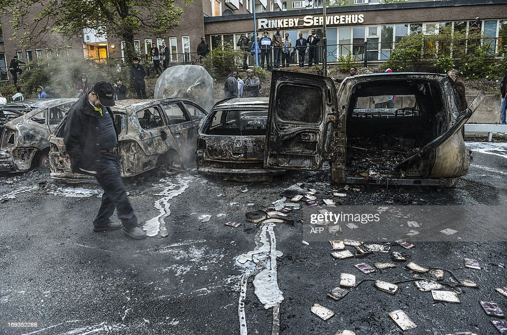 SWEDEN-RIOTS-SOCIAL : News Photo