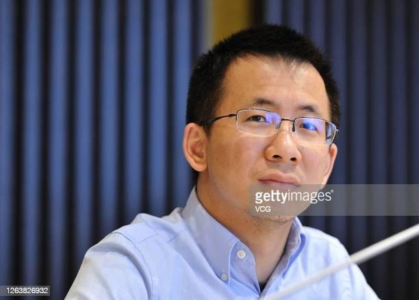 ByteDance founder Zhang Yiming is seen on March 31, 2016 in Hangzhou, Zhejiang Province of China.