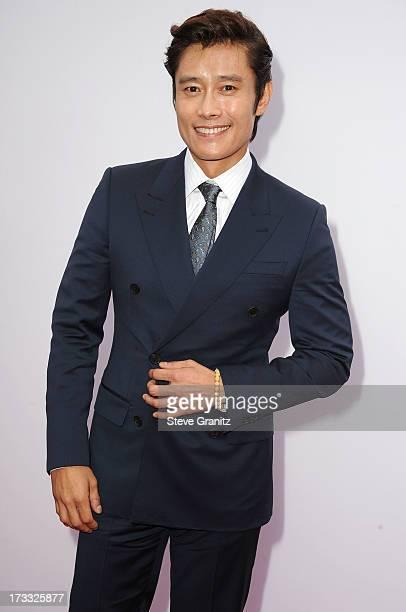 Byunghun Lee arrives at the 'RED 2' Los Angeles Premiere at Westwood Village on July 11 2013 in Los Angeles California