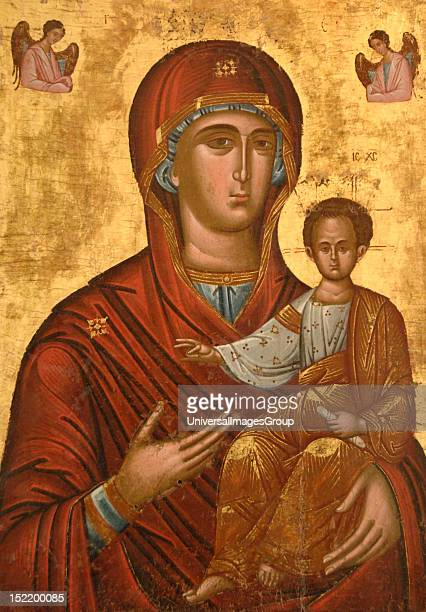 Byzantine art Greece Virgin Hodegetria Icon from the church of Agios Demetrios tou Kolla Dated to the midsixteenth century Byzantine Museum Zante...