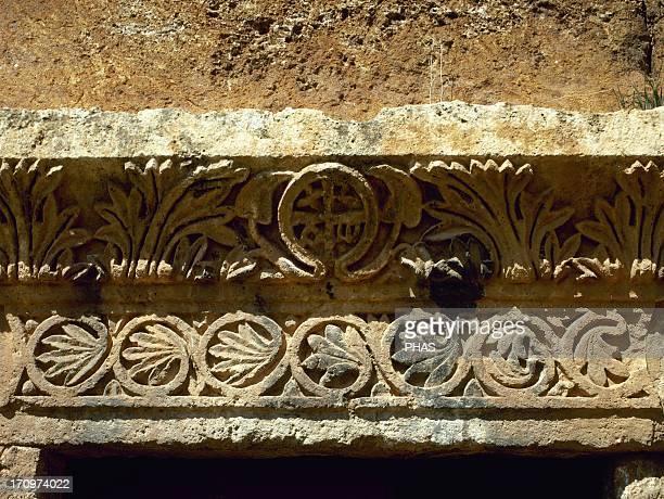 Byzantine Art Serjilla Relief of Chi Rho Syria Western Asia