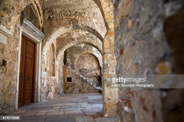 Byzantine Church Mystras, (Myzithras), Laconia, Peloponnese, Greece
