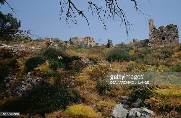 Byzantine church of Agia Sophia Monemvasia Peloponnese Greece 13th century
