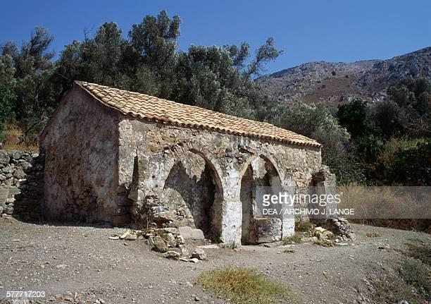 Byzantine church of Agios Georgios Apodoulou Crete Greece