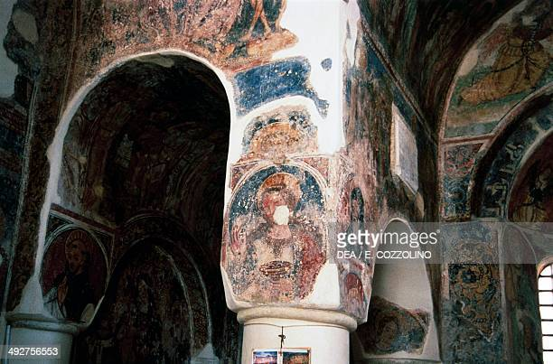 Byzantine frescoes in St Peter's Church 9th10th century Otranto Apulia Italy