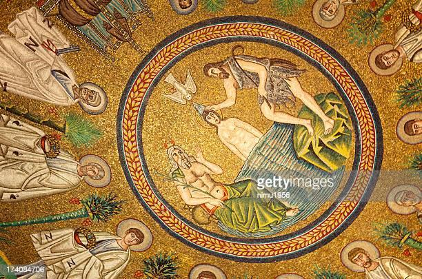 ビザンチンのモザイク arians 洗礼堂ます。ラヴェンナます。イタリアます。 - ラヴェンナ ストックフォトと画像