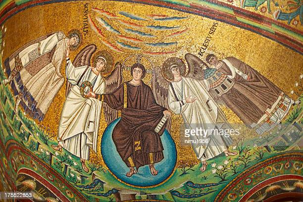 Byzantine Mosaic in San Vitale Basilica, Ravenna, Italy.