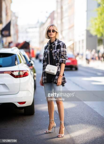 c seen outside Mykke Hofmann during the Copenhagen Fashion Week Spring/Summer 2019 on August 7 2018 in Copenhagen Denmark