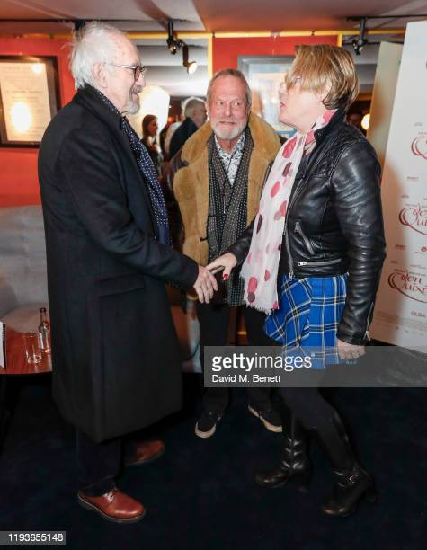 """C, Terry Gilliam and Eddie Izzard attend a special screening of """"The Man Who Killed Don Quixote"""" at The Curzon Mayfair on January 14, 2020 in London,..."""