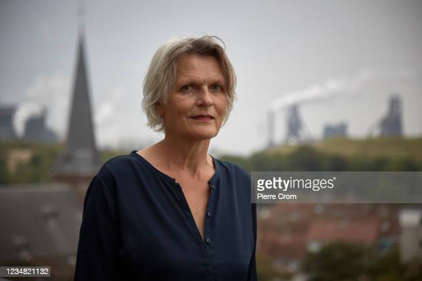 Founder of Fresh Wind Foundation Antoinette Verbrugge is portrayed in the village of Wijk aan Zee near the Tata Steel plant on August 21, 2021 in...